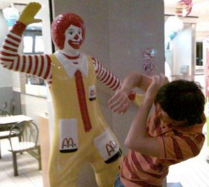 Ronald McDonald Scary