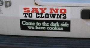 Say No to Clowns Bumper Sticker