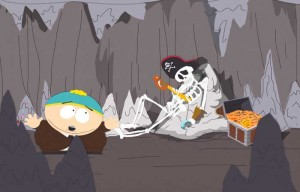 Cartman in Black Bart's cave