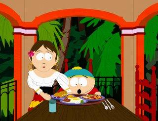 Cartman eating