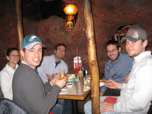 Group eating at Casa Bonita