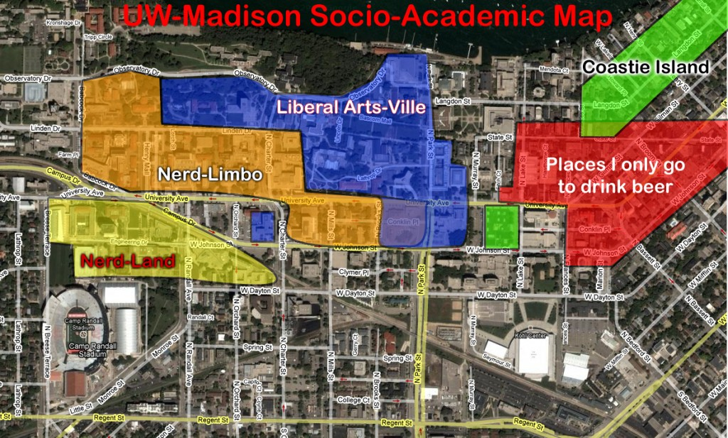 Figure 1 - UW-Madison Socio Academic Map
