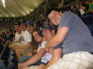 Our group at the Brewers/Twins game