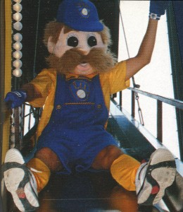 Bernie Brewer slide closeup