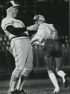 Bonnie Brewer spanking an Orioles coach