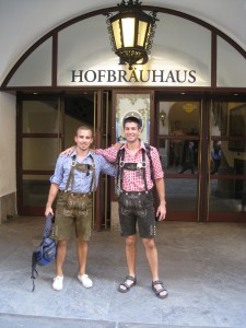 Tom and I at the Hoffbrau Haus