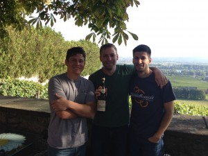 My brother-in-laws-to-be and I at the Fürst von Metternich Winery in Johannisberg (German's Rhine River Valley)